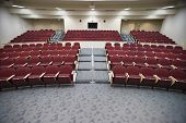 An empty lecture hall of a college university
