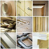stock photo of joinery  - Multiple images relating to the woodworking trade - JPG