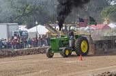 John Deere 6030 Tractor Pulling With Smoke