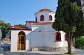 The church of Agios Nikolaos in Skiathos Town (Chora) on the Greek island of Skiathos.