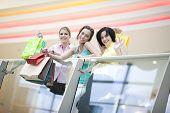 Three Friends Shopping
