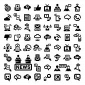 big communication icons set