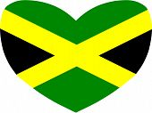 Heart Shaped Flag of Jamaica