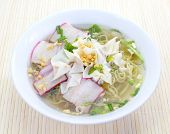 stock photo of wanton  - asian food photo of Wonton Soup with pork - JPG