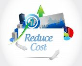 stock photo of reduce  - reduce cost business concept illustration design over white - JPG