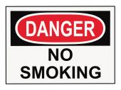 picture of osha  - OSHA danger no smoking sign isolated on white - JPG