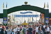 Crowds At The Oktoberfest