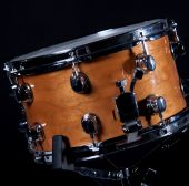 Wood Snare Drum On Black