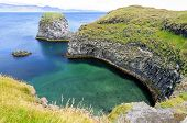 Cliffs And Basalt Rocks In Arnarstapi in Snaefellsnes Peninsula, Iceland