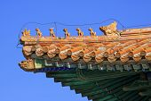 Fancy Glazed Tile Roof In The Eastern Royal Tombs Of The Qing Dynasty, China