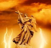 Statue Of Angel On The Sant'angelo Bridge (italy, Rome)