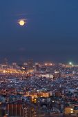 Barcelona At Night, Spain