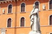 Statue Of Dante Alighieri In Verona