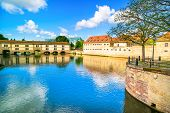 Strasbourg, Barrage Vauban And Medieval Bridge Ponts Couverts. Alsace, France.