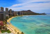 Playa de Waikiki y Diamond Head Crater