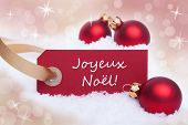Red Banner With Joyeux Noel