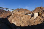 The Shadow From Hoover Dam On Black Canyon In Boulder City, Nv On May 13, 2013