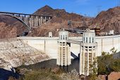 Hoover Dam, Visitoris Center And Pat Tillman Bridge In Boulder City, Nv On May 13, 2013