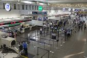 The Security Check Point At Minneapolis Airport In Minnesota On July 02, 2013
