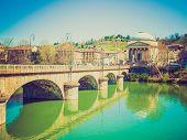 Retro Look River Po Turin