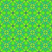 Green Jugendstil Pattern