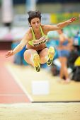LINZ, AUSTRIA - JANUARY 31 Ivana Spanovic (#505 Serbia) wins the women's long jump event on January