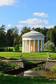 Summer Landscape Of The Pavlovsk Garden. Temple Of Friendship