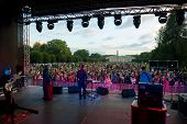 MOSCOW - SEPTEMBER 7: Therr Maitz group performs at Usadba Jazz Festival in Kuskovo Mansion on Septe