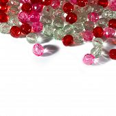 pic of beads  - Border pink red and clear beads for haberdashery - JPG