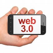 Web design SEO concept: smartphone with Web 3.0