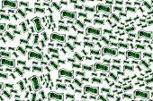 Lots Of Money Draw Bills Ona Money Concept Illustration