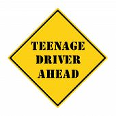 Teenage Driver Ahead Sign