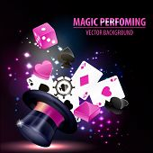 Abstract Magic Hat Background