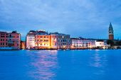 Houses On Grand Canal In Evening