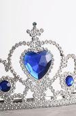 Diamond And Blue Sapphire Tiara