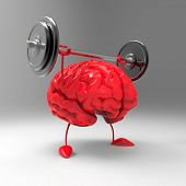 picture of weight lifter  - Strong brain - JPG