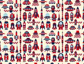 Retro Seamless Rocket Pattern