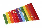 Colorful xylophone isolated over white background