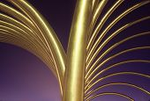 Geometric Gold Monument poster