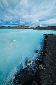 The blue lagoon geothermal bath.