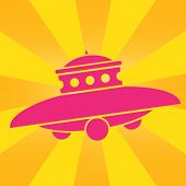 UFO Pop Art Icon