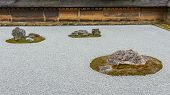 Zen Rock Garden at Ryoanji Temple in Kyoto