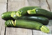 Raw And Fresh Zucchini