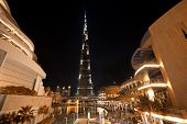 Burj Khalifa Night Shot From Dubai Mall
