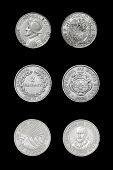 Set of coins of central american countries