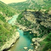 Tara River Canyon In Montenegro Mountains