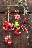 Handmade Christmas Decoration With Snow Effect