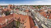 Panoramic View Of Old Town In Torun, Poland.