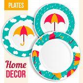 Set Of Decorative Plates.