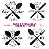 pic of deli  - Vector Restaurant and Food Badge Template Set - JPG